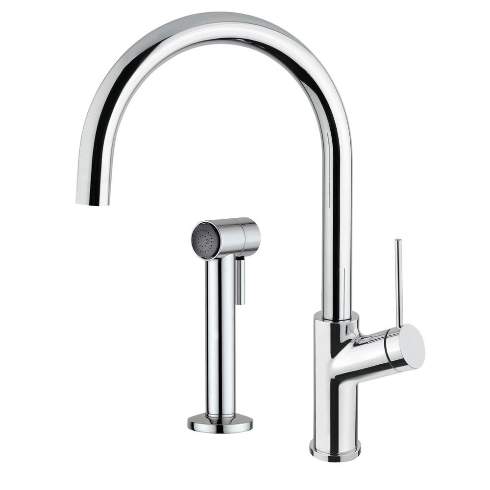 Aquabrass Single Hole Kitchen Faucets item ABFK6145SBN