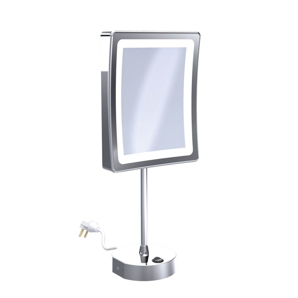 Baci Remcraft Magnifying Mirrors Bathroom Accessories item EH120-LED CHR