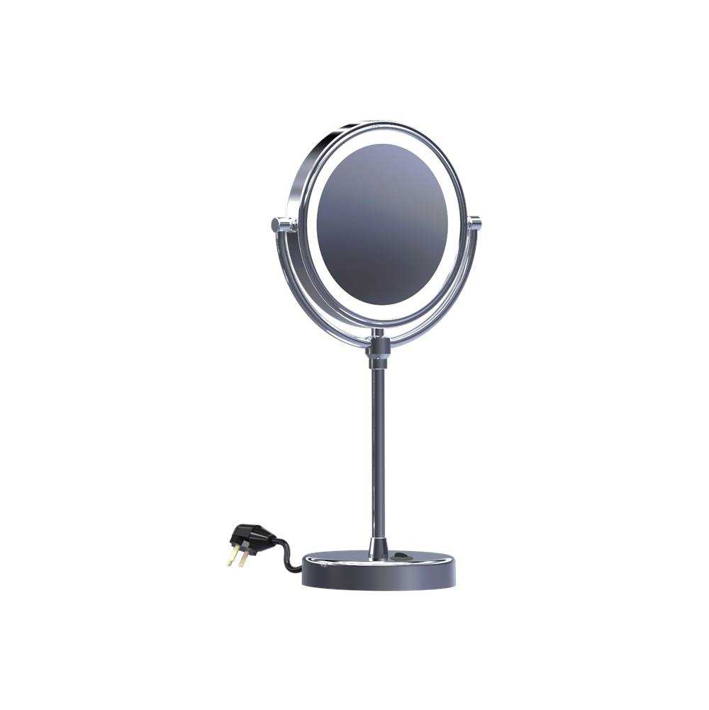 Baci Remcraft Magnifying Mirrors Bathroom Accessories item EH140 SATIN NICKEL