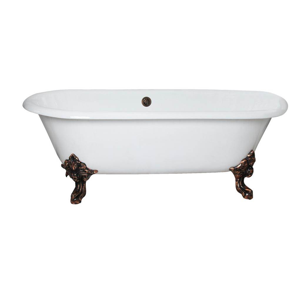 Barclay Free Standing Soaking Tubs item CTDRN72-WH-BL