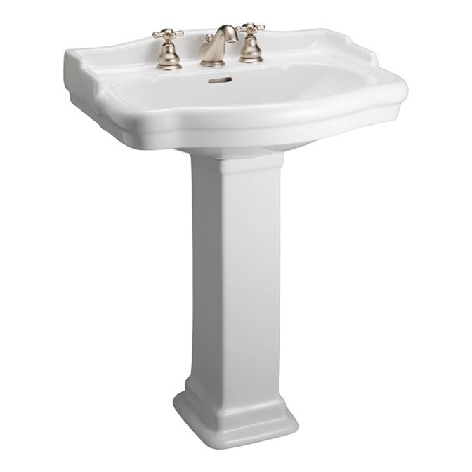 Barclay Complete Pedestal Bathroom Sinks item 3-864WH
