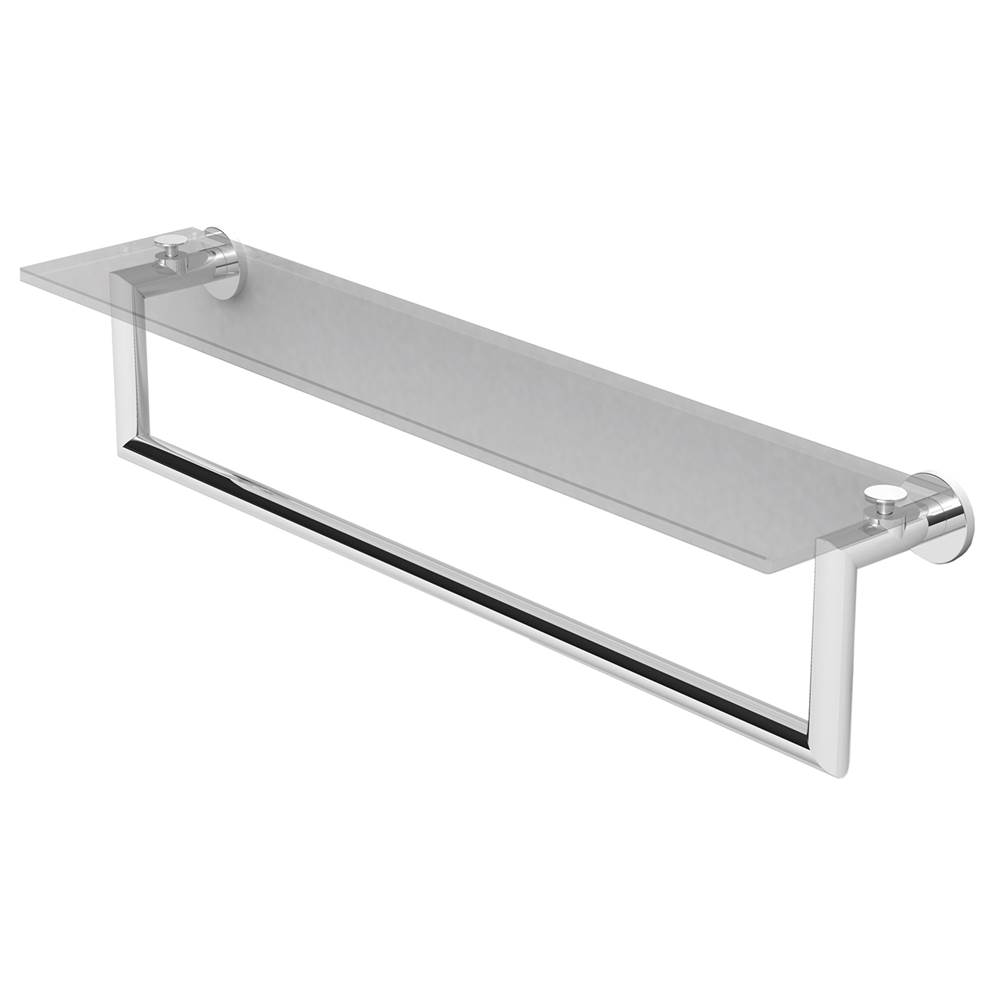 Ginger - 4619T-24/SN - 24'' Shelf with Towel Bar