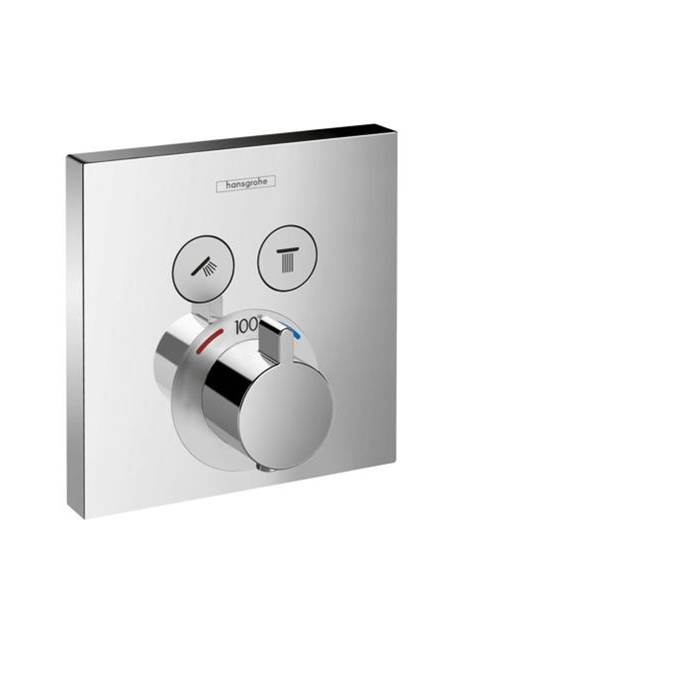 Hansgrohe   15763001   ShowerSelect Square Thermostatic 2 Function Trim