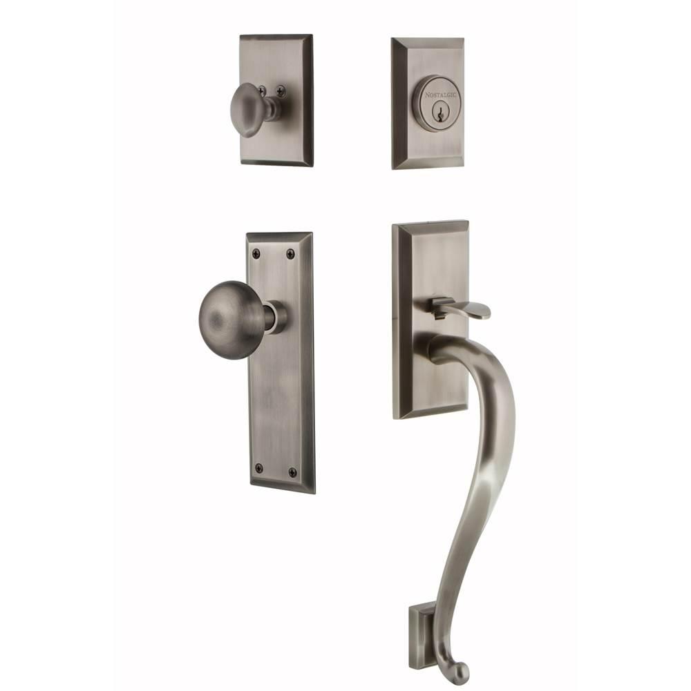 Nostalgic Warehouse Entry Pulls Handle Sets item 719452 - Pewter Door Hardware Russell Hardware - Plumbing-Hardware-Showroom