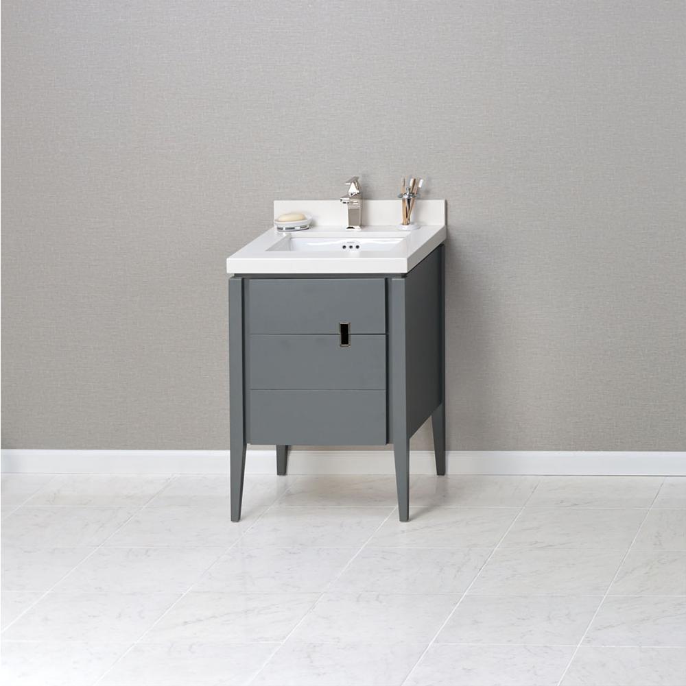 Ronbow 038224 E12 24 Zoe Bathroom Vanity Cabinet Base In Slate Gray