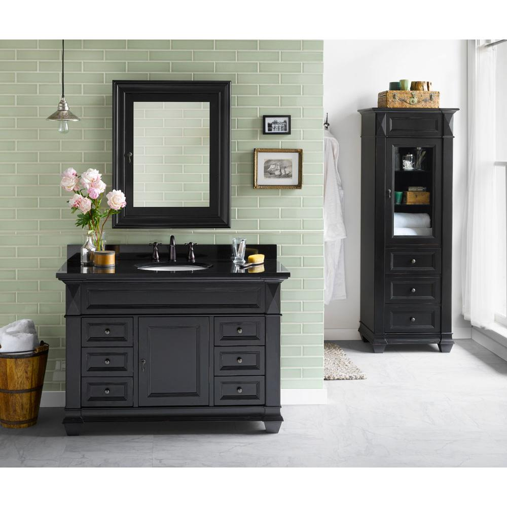 Ronbow 062848 B01 48 Torino Bathroom Vanity Cabinet Base In Antique Black