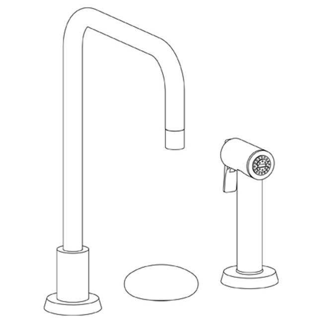 Watermark Deck Mount Kitchen Faucets item 36-7.1.3A-HL-MB