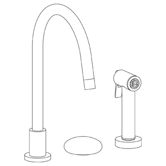 Watermark Deck Mount Kitchen Faucets item 36-7.1.3GA-HL-MB