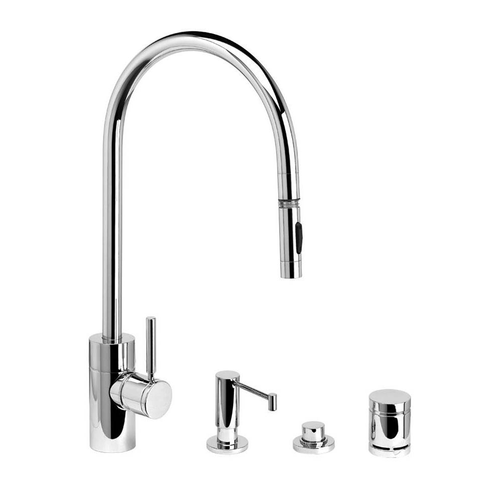 Waterstone Deck Mount Kitchen Faucets item 5300-4-PB